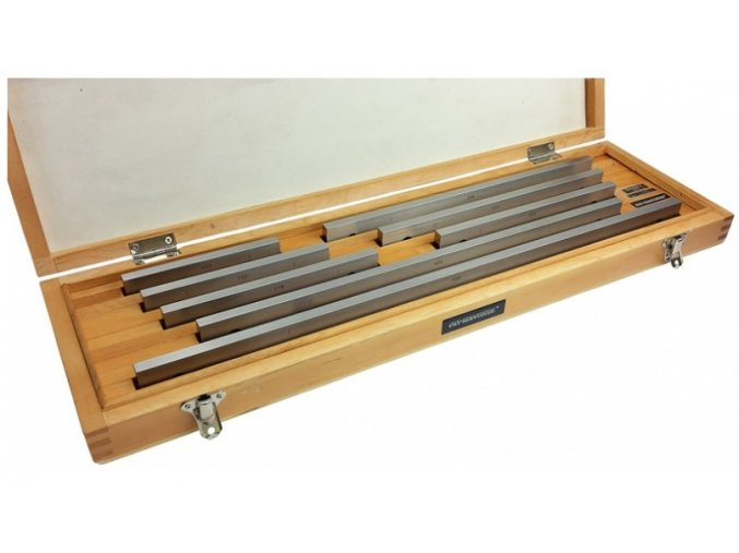 Sady dlouhých základních koncových měrek 8 ks, 125 - 500 mm, DIN EN ISO 3650, OCEL