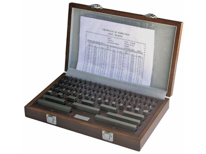 Sady základních koncových měrek 47 ks, DIN EN ISO 3650, TVRDOKOV