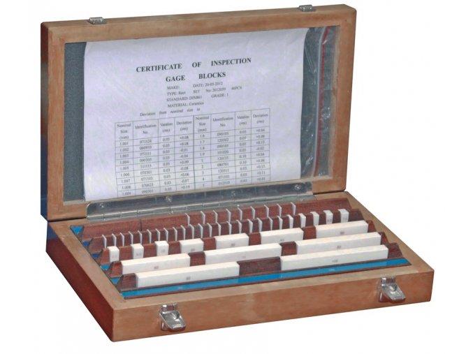 Sady základních koncových měrek 47 ks, DIN EN ISO 3650, KERAMIKA