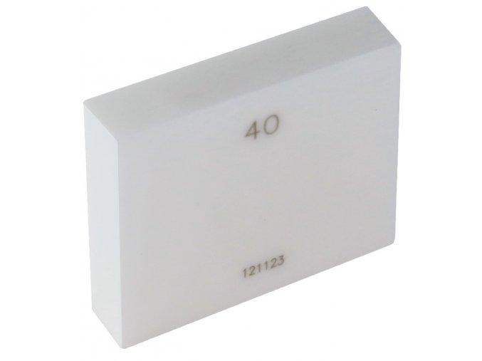 Jednotlivé základní koncové měrky 0,5 - 100 mm, tř.př.1, KERAMIKA
