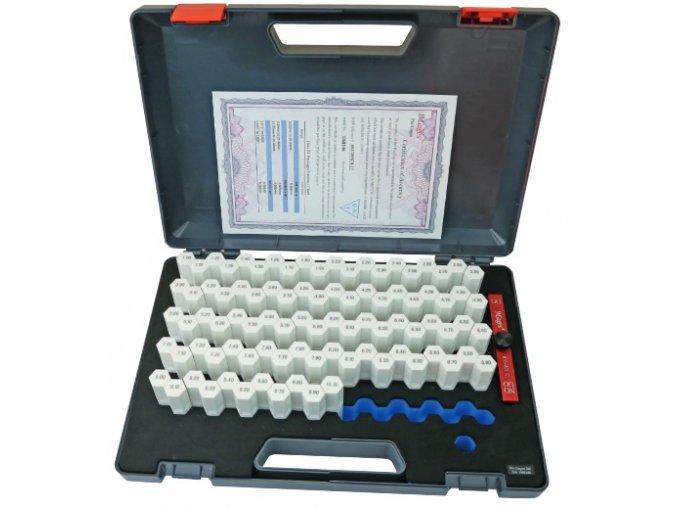 Sada válečkových měrek 1,0 - 10,0 mm, stupňování po 0,1 mm, tol. +/-0,003 mm