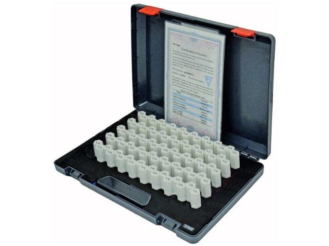 Sada válečkových měrek 4,10 - 7,00 mm, stupňování po 0,1 mm a +0,01/-0,01 mm