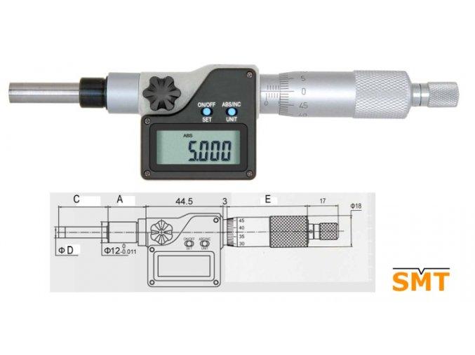 Digitální mikrometrická hlavice 0-25 mm