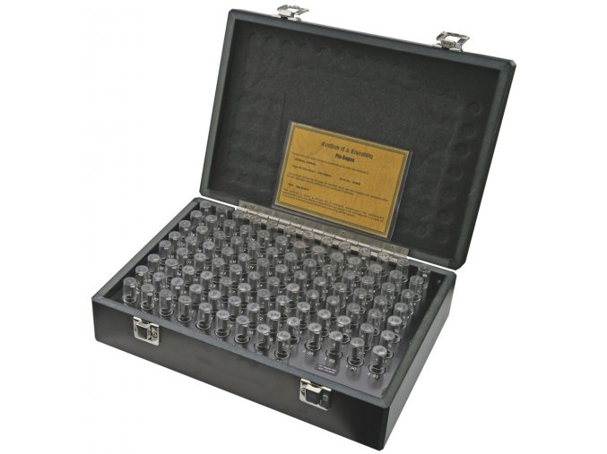 Sady válečkových měrek 0,30 - 10,00 mm, stupňování po 0,05 mm, tol.+/-0,002 mm