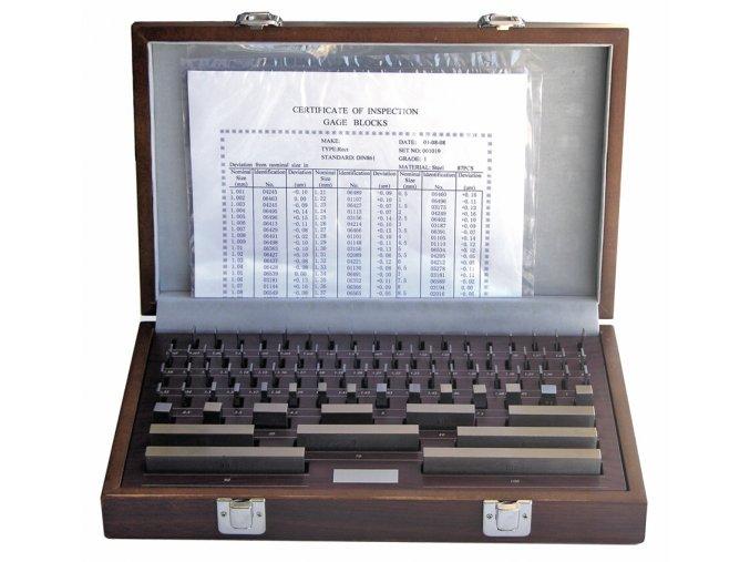 Sady základních koncových měrek 122 ks, DIN EN ISO 3650, OCEL