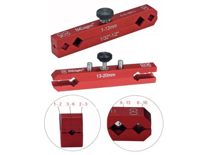 Držáky válečkových měrek 1 - 20 mm