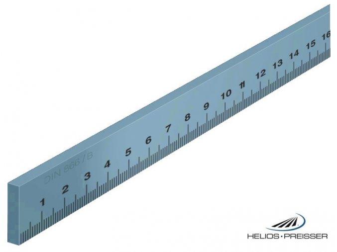 0452201 Ocelové měřítko ploché DIN 866 / B Preisser