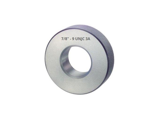 Závitové kroužky UNJC - palcové, Dobré,  ANSI B 1.2 / BS 919