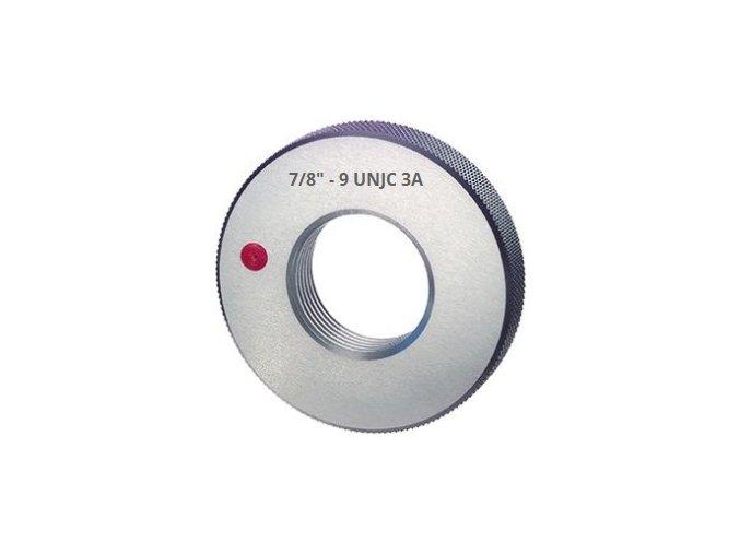 Závitové kroužky UNJC - palcové, Zmetkové  ANSI B 1.2 / BS 919