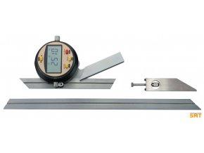 Digitální univerzální úhloměr 0-360°,  pravítka 150 a 300 mm
