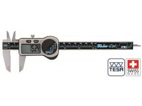 00530322 Posuvné měřítko digitální 0-200 mm, TWIN-CAL IP67, plochý hloubkoměr, TESA