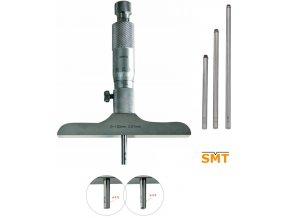 309060 Mikrometrický hloubkoměr 0-100/0,01 mm, doteky s radiusem