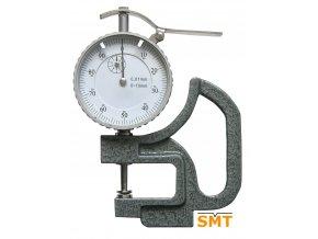 Tloušťkoměr 0-10/0,01 mm, zaoblený dotek