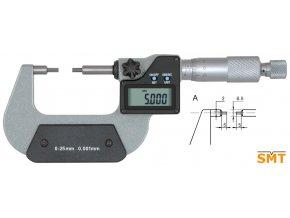 Digitální třmenový mikrometr, tenké doteky