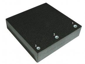 Granitová příměrná deska s upínacími pouzdry M8, DIN 876 tř.0