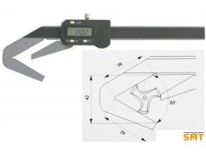 Posuvné měřítko pro tříbřité nástroje
