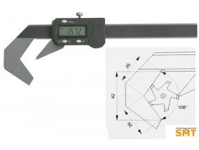 Posuvné měřítko pro pětibřité nástroje