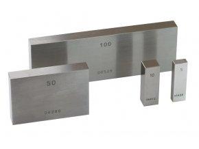 Jednotlivé základní koncové měrky 0,5 - 100 mm, tř.př.0, OCEL