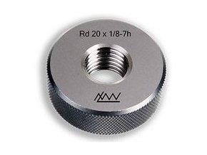 Závitové kroužky Rd - oblý závit, Dobré, tolerance 7e, DIN 405