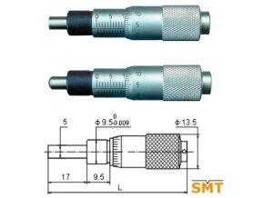 Vestavná mikrometrická hlavice 0 15 mm