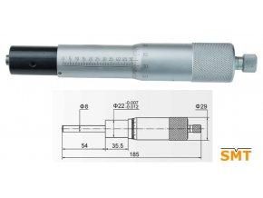 Vestavná mikrometrická hlavice 0-50 mm