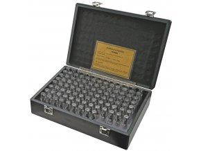 Sady válečkových měrek 0,30 - 20,00 mm, stupňování po 0,1 mm, tol.+/-0,002 mm