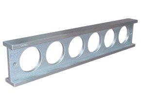 Montážní příměrná pravítka HLINÍK, DIN 874 tř.1
