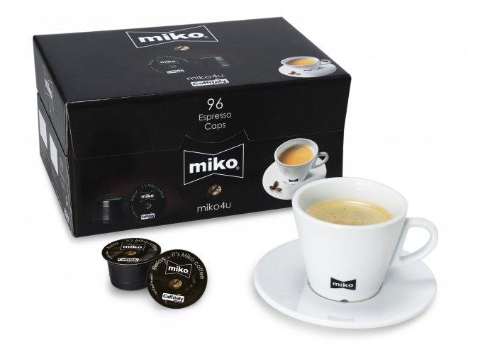 MIKO kapsule s mletou kavou Caffitally