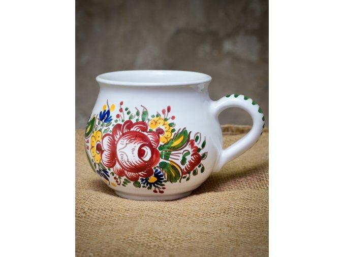 Ručně malovaný hrnek buclák s růží 0,5 litrů VAL