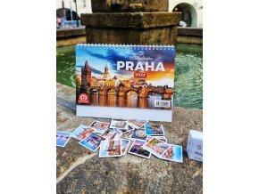 Pexeso a stolní kalendář Miluju Prahu 2022 za zvýhodněnou cenu