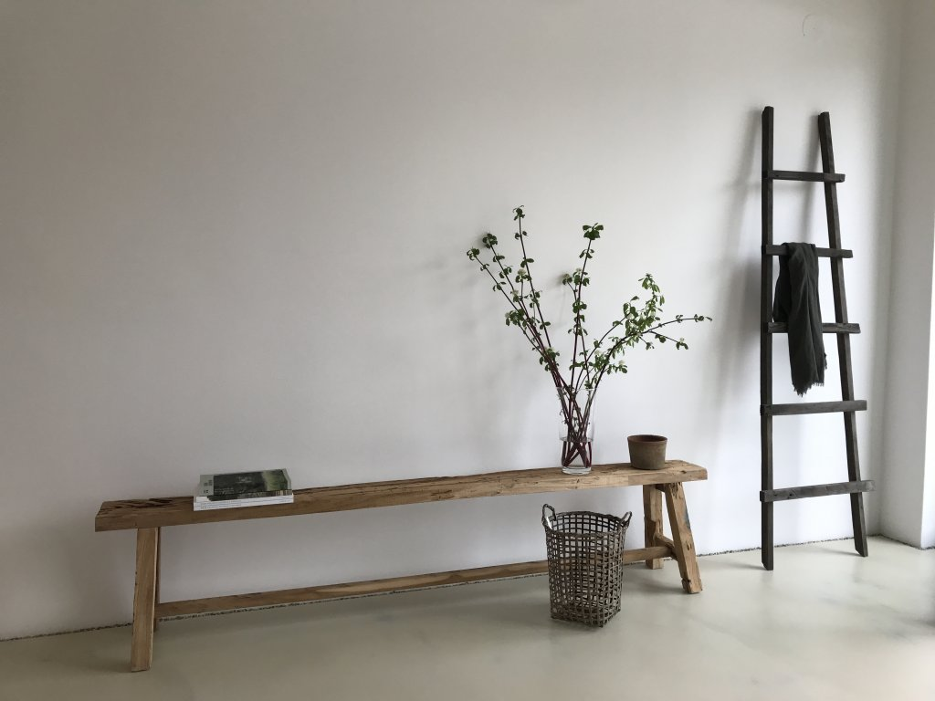 Lavička ze starého teakového dřeva