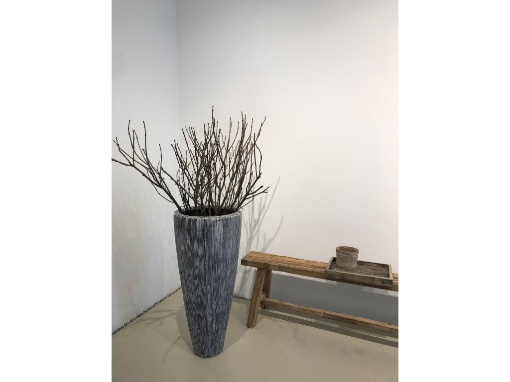 Designový strukturovaný velký květník 83 cm