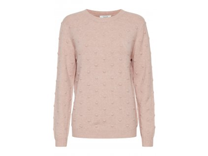 mel warm rose knitted pullover