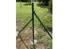 plotovy sloupek zeleny poplastovany