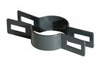 Objímka plotového panelu pro sloupek 60 mm, průběžná, antracit
