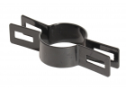 Objímka plotového panelu pro sloupek 48 mm, průběžná, černá