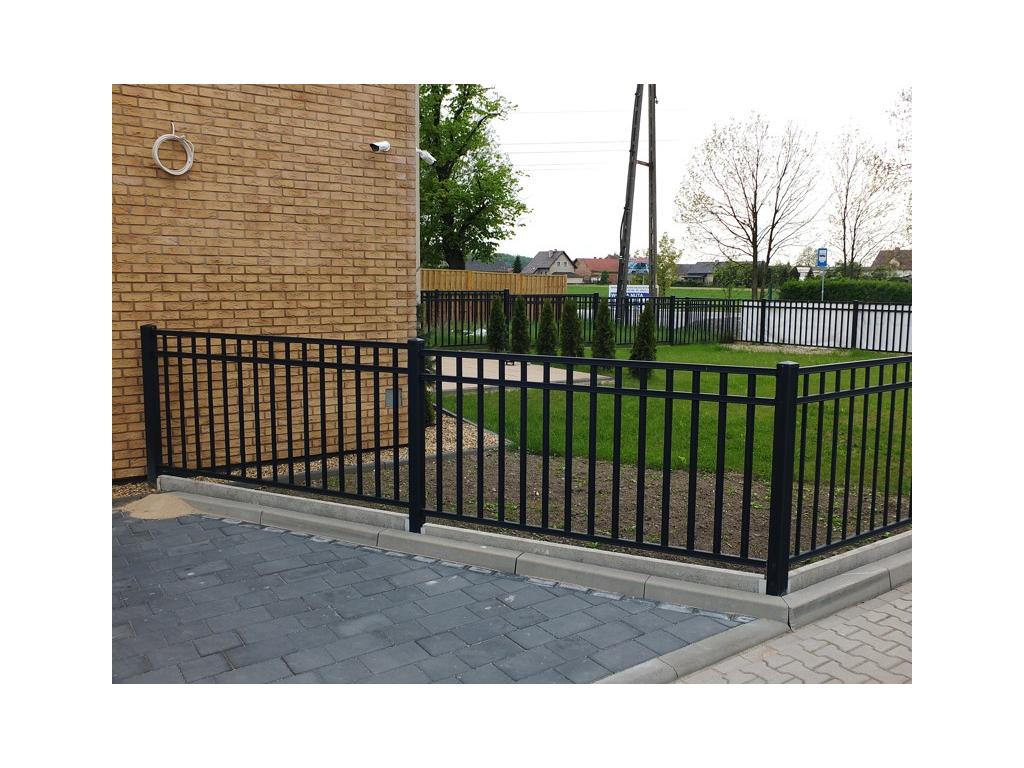 Kovové plotové pole - Liniové uzavřené, grafit (Rozměry(š x v) 200 x 100 cm)