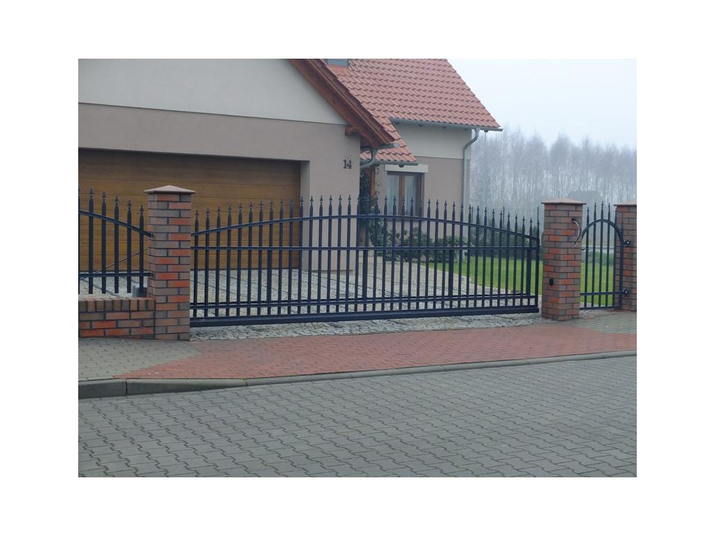 Posuvná brána - Radius standard, grafit (Rozměry (š x v) 300 x 155 cm)