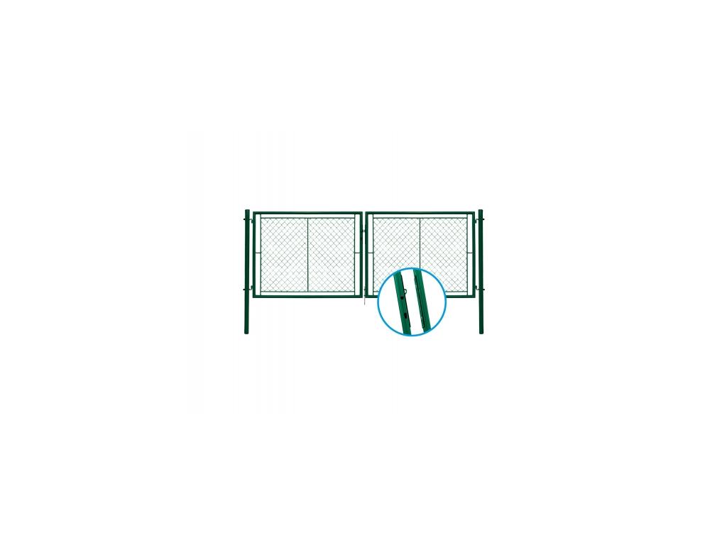 3044 dvoukridla brana pletivo zelena rozmery 4037x1750 mm zn pvc