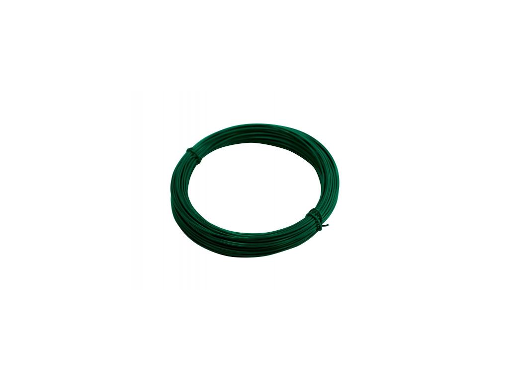 3284 vazaci drat poplastovany zn pvc prumer 1 4 mm 24 m zeleny
