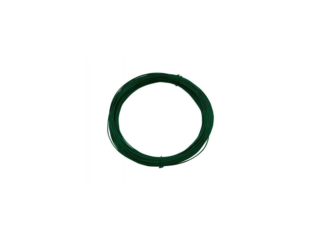 3287 vazaci drat poplastovany zn pvc prumer 2 0 mm 50 m zeleny