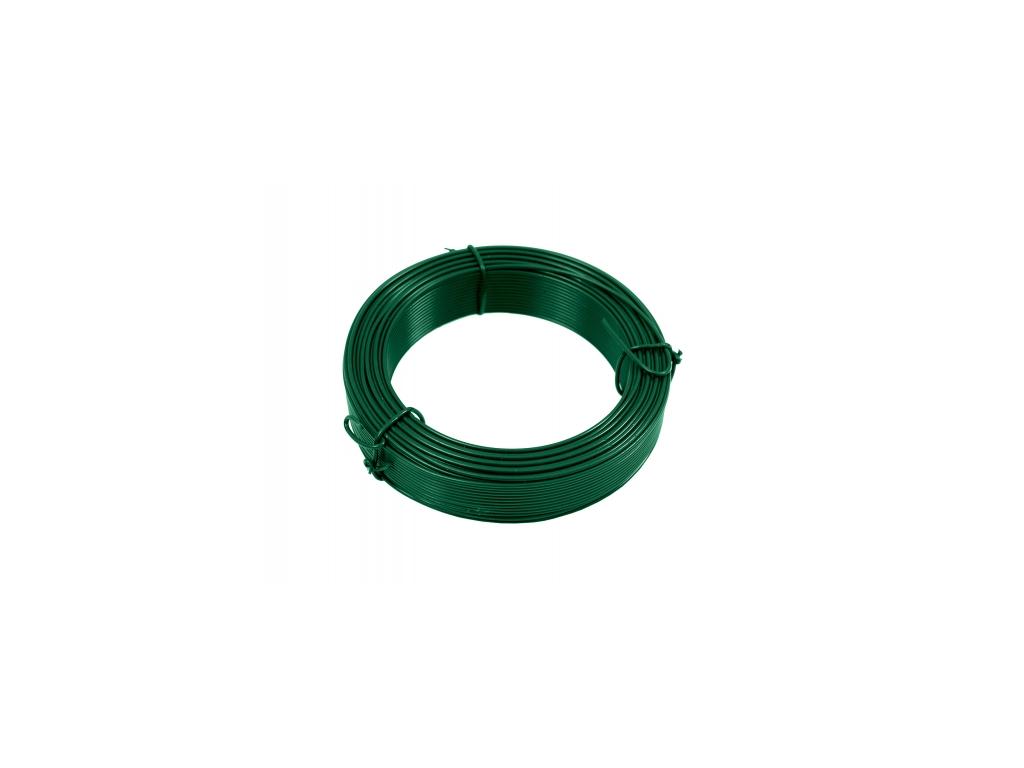 3290 vazaci drat poplastovany zn pvc prumer 2 6 mm 25 m zeleny