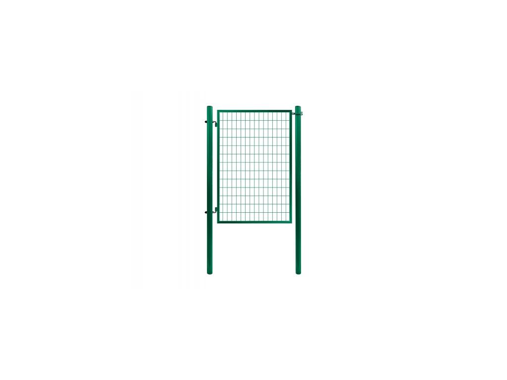 3308 jednokridla branka economy svarovana sit zelena rozmery 1078x1200 mm zn pvc