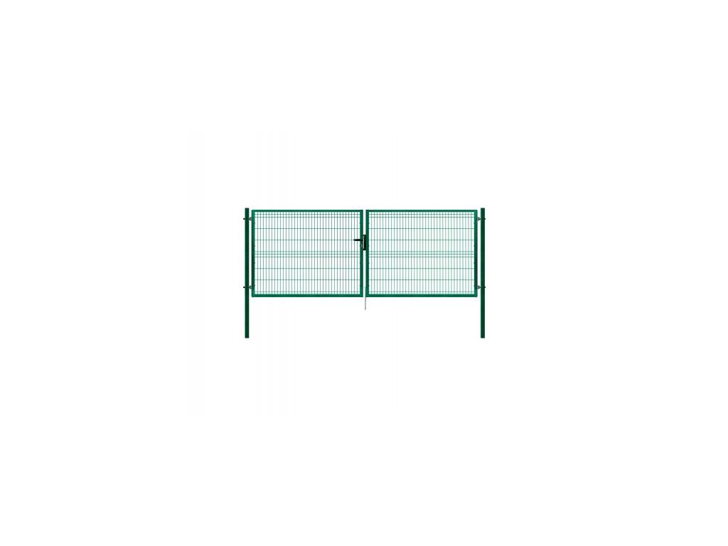 3407 dvoukridla brana panel 3d zelena rozmery 4118x1545 mm zn pvc