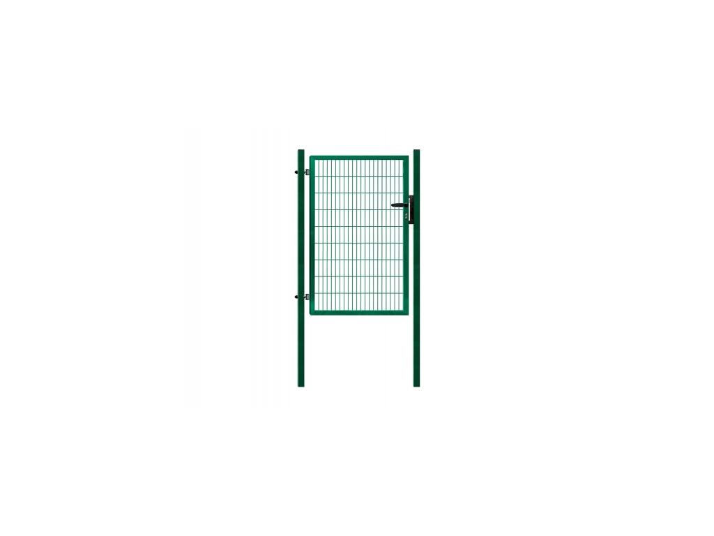 3416 jednokridla branka panel 2d zelena rozmery 1094x980 mm zn pvc