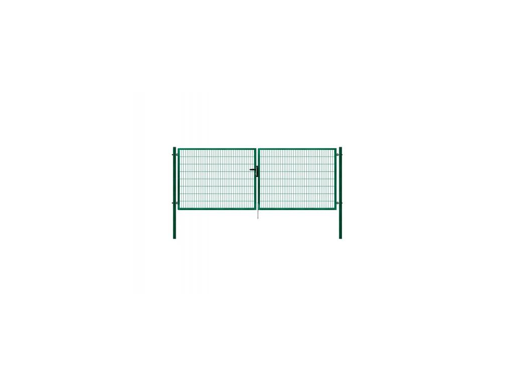 3437 dvoukridla brana panel 2d zelena rozmery 4118x1180 mm zn pvc