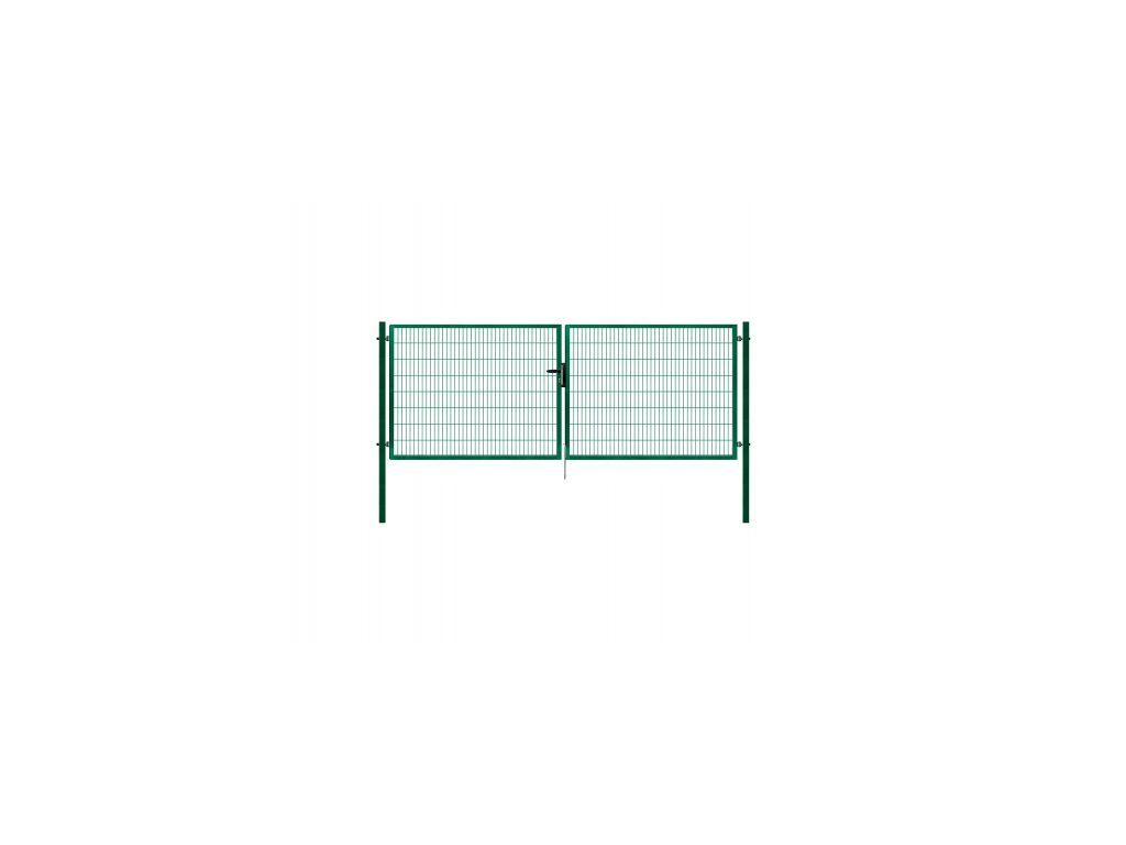 3443 dvoukridla brana panel 2d zelena rozmery 4118x1580 mm zn pvc