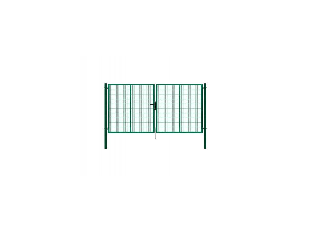 3449 dvoukridla brana panel 2d zelena rozmery 4138x1980 mm zn pvc