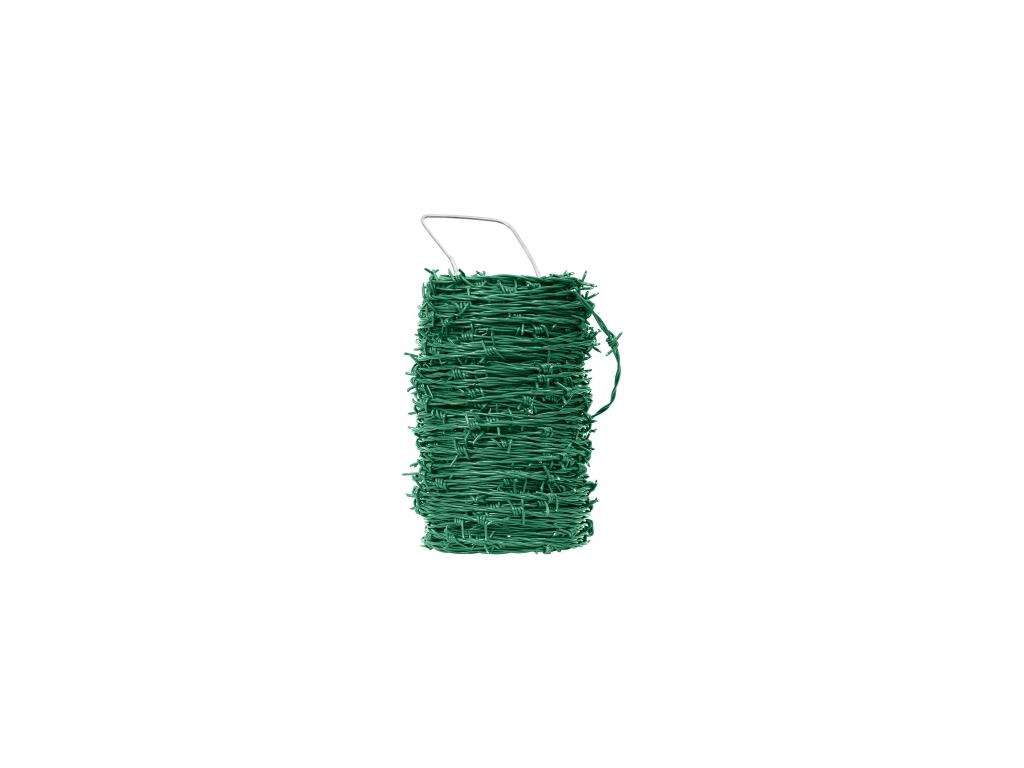 3575 ostnaty drat poplastovany zn pvc delka 50 m prumer 2 5 mm zeleny