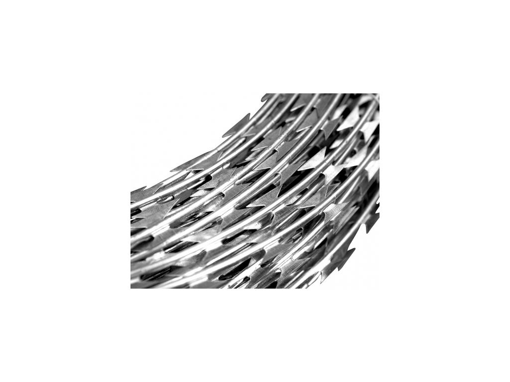 3584 ziletkovy ostnaty drat prumer vinuti 73 cm delka rozvinu 9 10 m zn